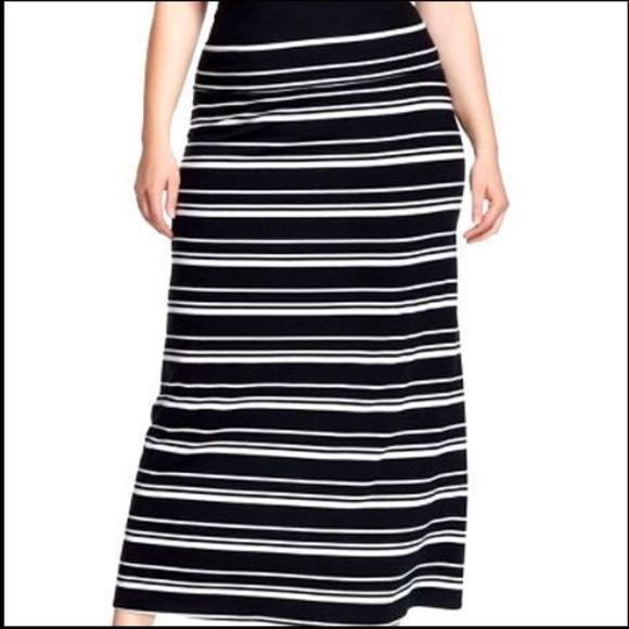 Ava & Viv Dresses & Skirts - NWT Ava&Viv Plus Size Ebony Stripe Skirt-NEW-4X